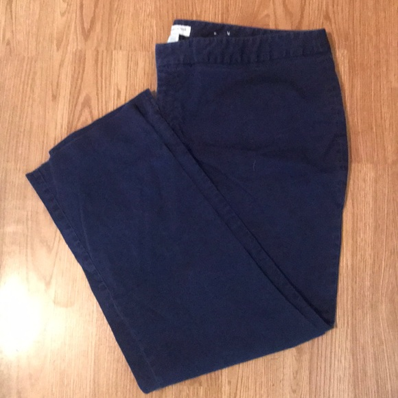 Coldwater Creek 4 Khakis Navy Blue Chinos Pants Career Capris Stretch 28 X 23 Women's Clothing Clothing, Shoes & Accessories